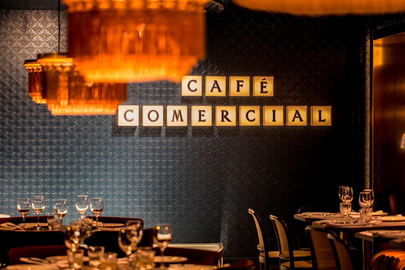 Rótulo Café Comercial