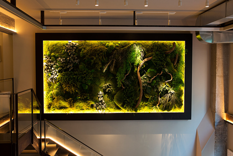 Iluminacion jardin vertical fantti for Iluminacion para jardines interiores