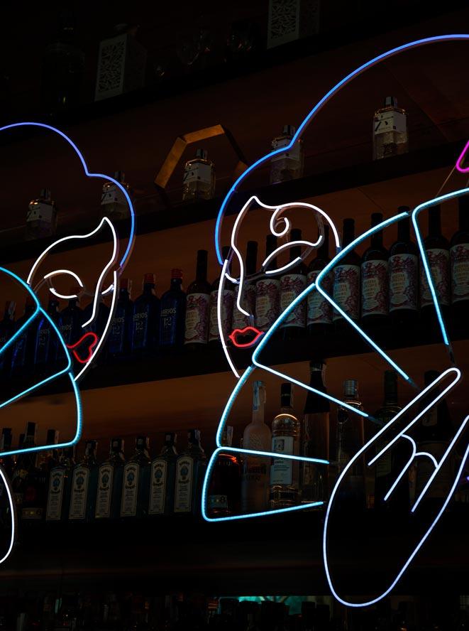 Abanicos iluminados restaurante Umo