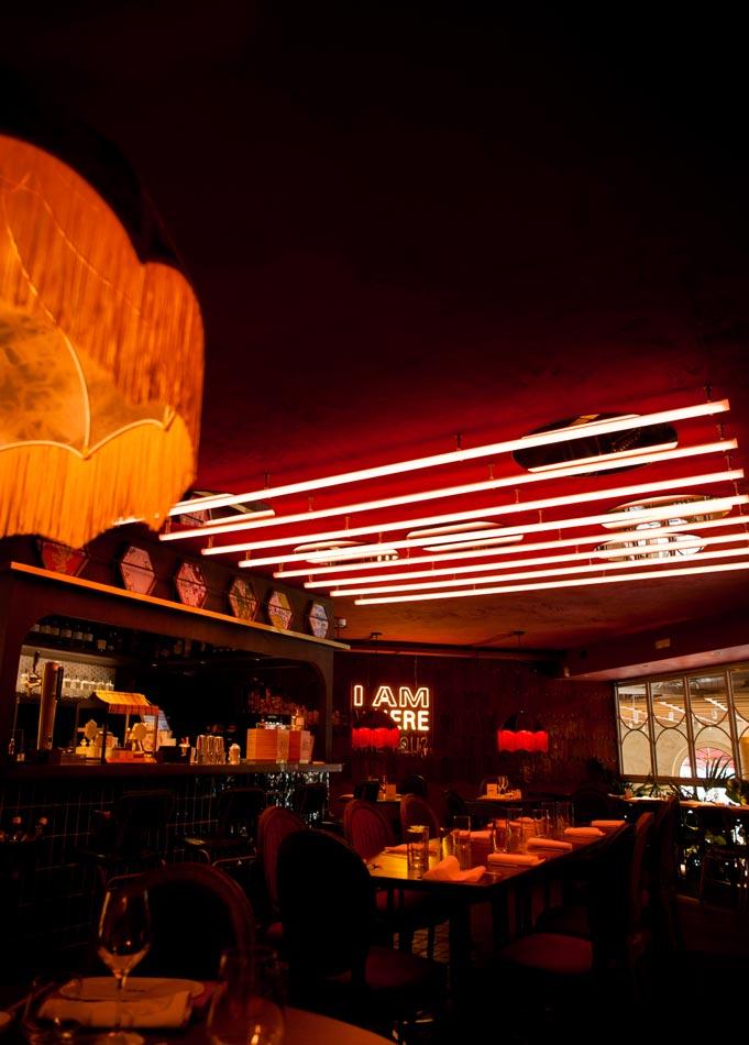 Iluminación restaurante Japonés Umo Madrid